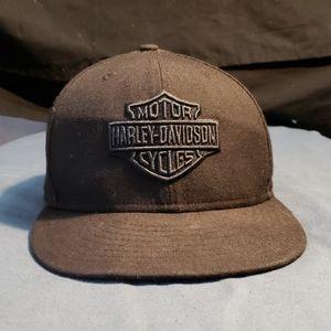 Harley-Davidson black hat.  Size 7 3/4